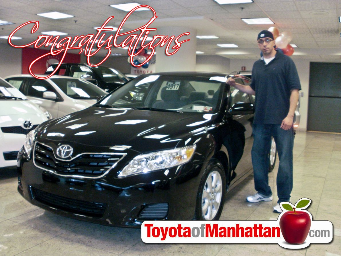 Toyota Of Manhattan >> Happy Toyota Of Manhattan Customer Frank With His New Toyota