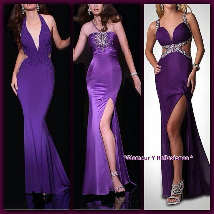 Lindos.vestidos morados | Boda Gaby & Lalo | Pinterest | Vestido ...