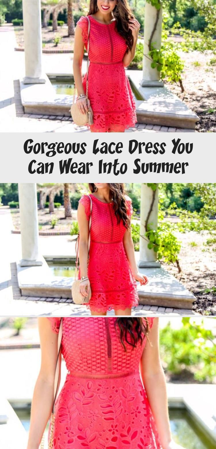Lace Dress for Spring and Summer. Orange Dress
