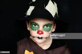 boy pumpkin scarecrow makeup - Google Search #scarecrowmakeup