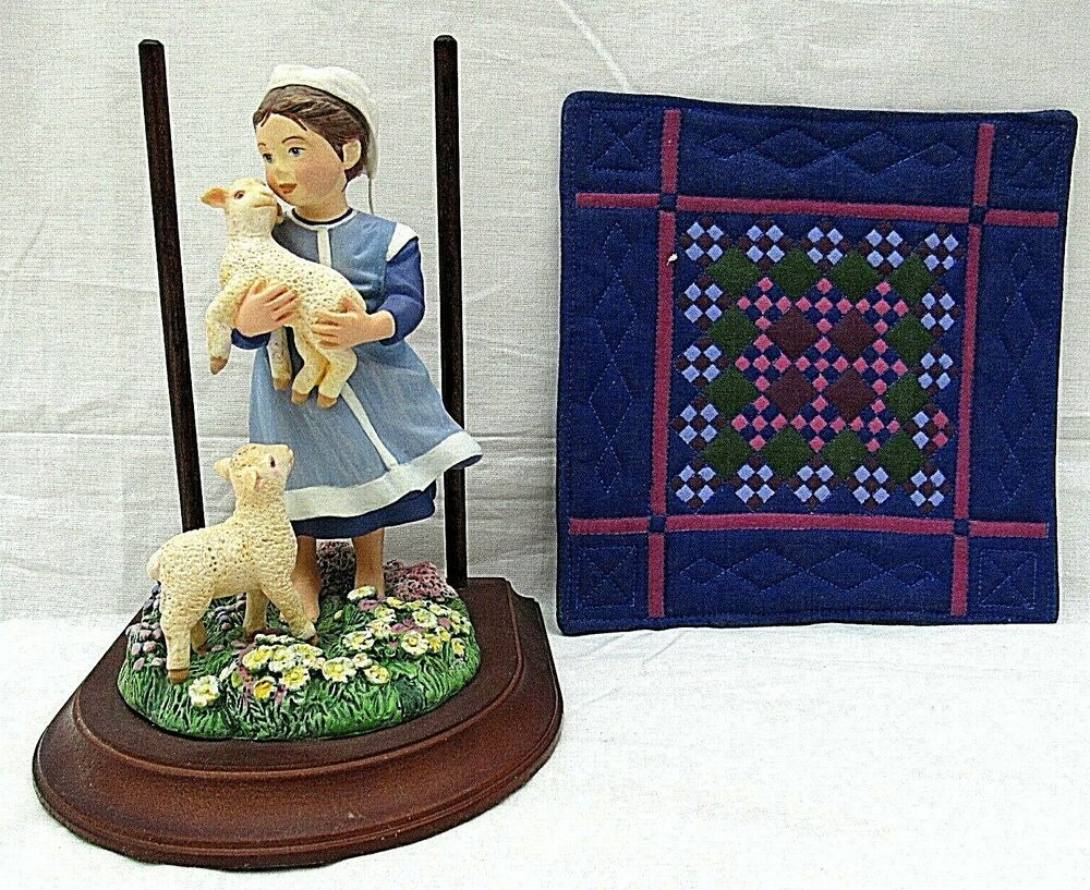 Amish Heritage Figurine Sadie Mae Sheep 30011 Willitts Dezendorf 1993 Vintage Willitts Vintage Items Victorian Lady Nativity Set