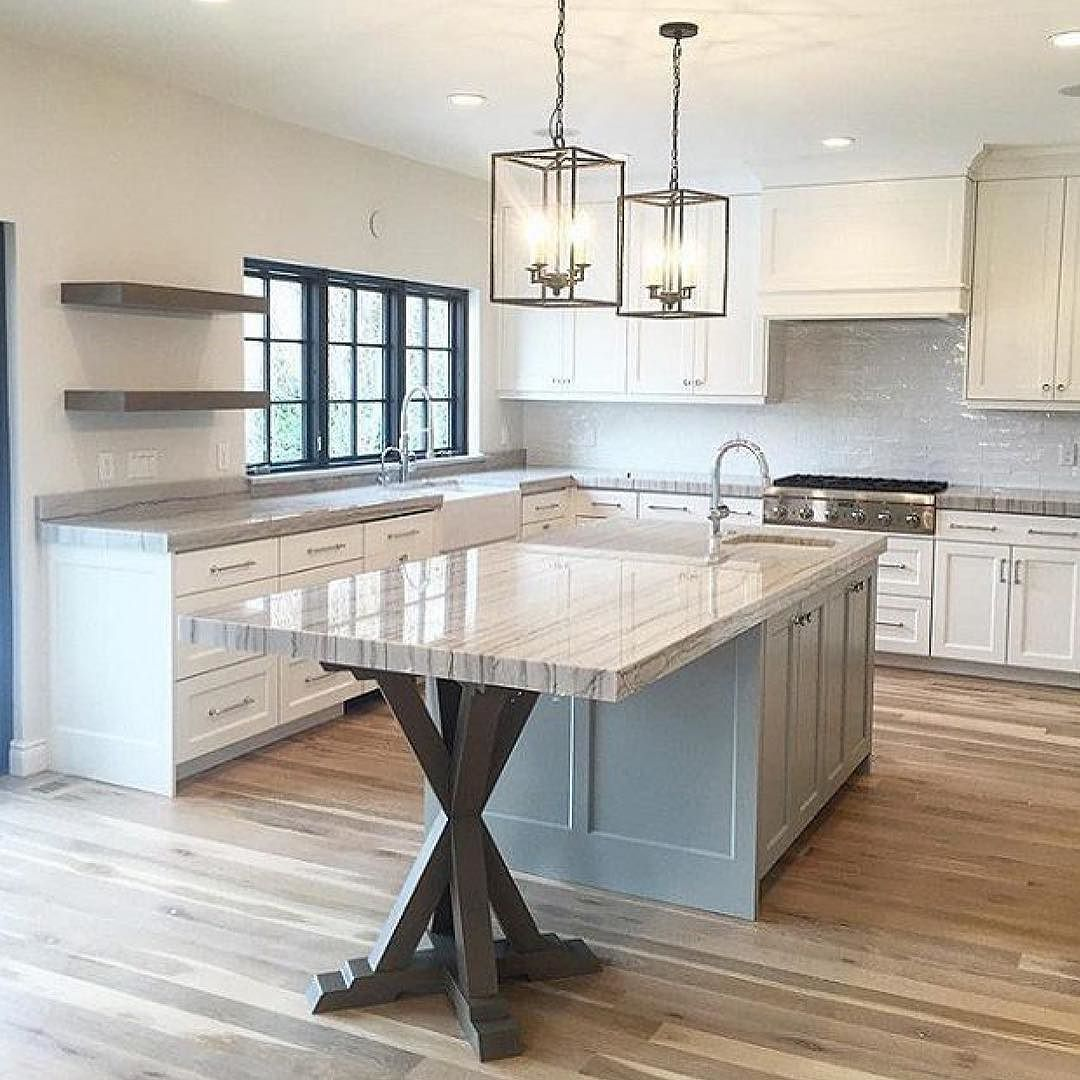 I love this look! Clean modern yet classic all in one. Kitchen