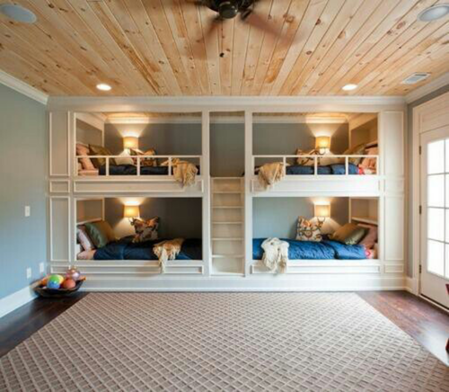 Kids Bedroom Wall Decor Bedroom Designs Latest Bedroom Ideas For Quadruplets Bedroom Blue Carpet: Way More Fun Than Summer Camp. Built In Bunk Beds Are