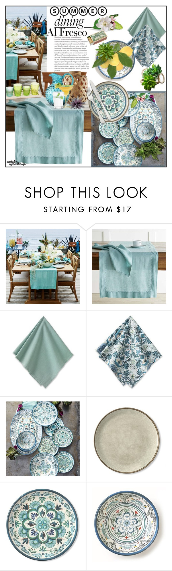 """Summer Outdoor Dining"" by eyesondesign ❤ liked on Polyvore featuring interior, interiors, interior design, home, home decor, interior decorating, Rosendahl, Shandell's, interiordesign and TastemastersDesignGroup"