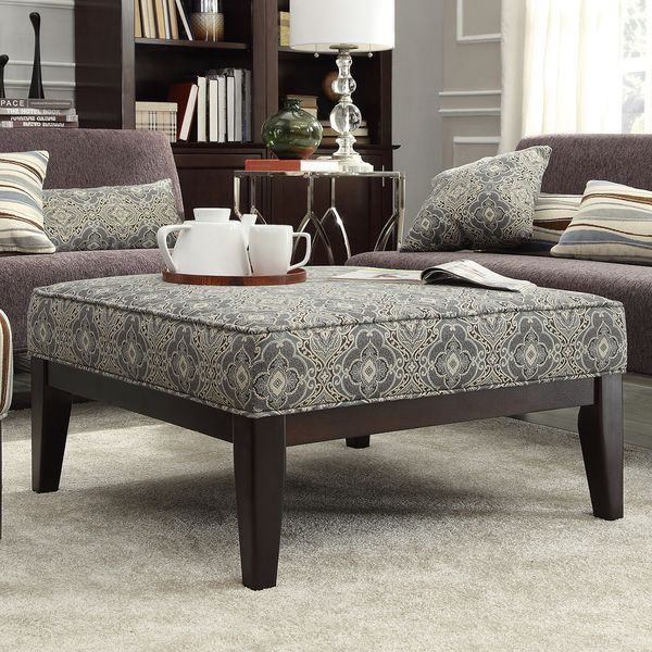Merihill Coffee Table With Ottoman: INSPIRE Q Ashland 36-inch Upholstered Cocktail Ottoman