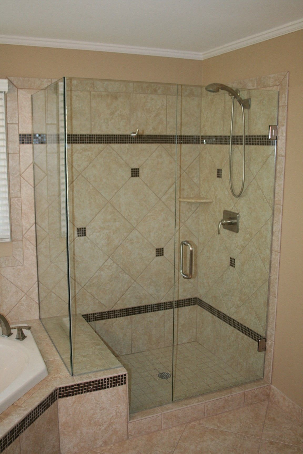 glass corner shower by room single doors micah swing home with walk pinterest cubicle bowie and austin on breathtaking ideas in of powder pin