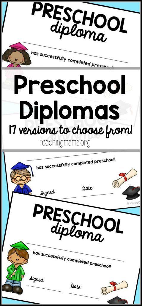Preschool Graduation Diploma Preschool graduation, Free preschool - Printable Preschool Diplomas