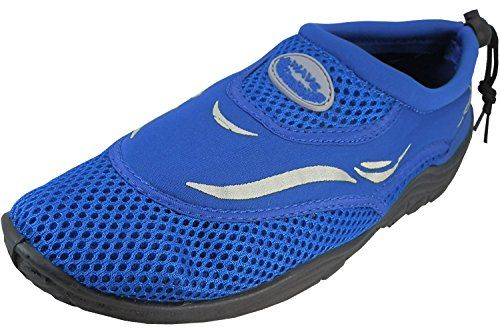 ba472ec9f5 Mens Wave Water Shoes Pool Beach Aqua Socks Yoga Exercise Blue S1182M 8 DM  US -