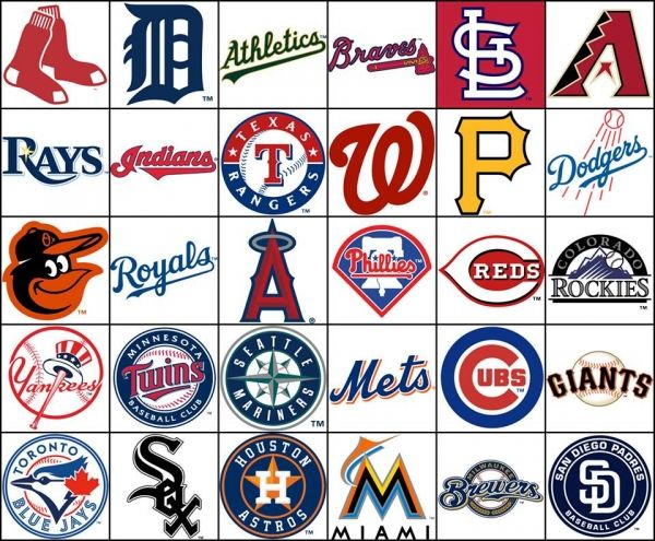 Mlb Teams By Divisions Baseball Teams Logo Major League Baseball Teams Mlb Teams