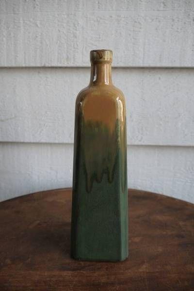 Enamel France フランスアンティーク花瓶A陶器壺キッチンホーロー缶オブジェ インテリア 雑貨 家具 Antique ¥5250yen 〆05月18日