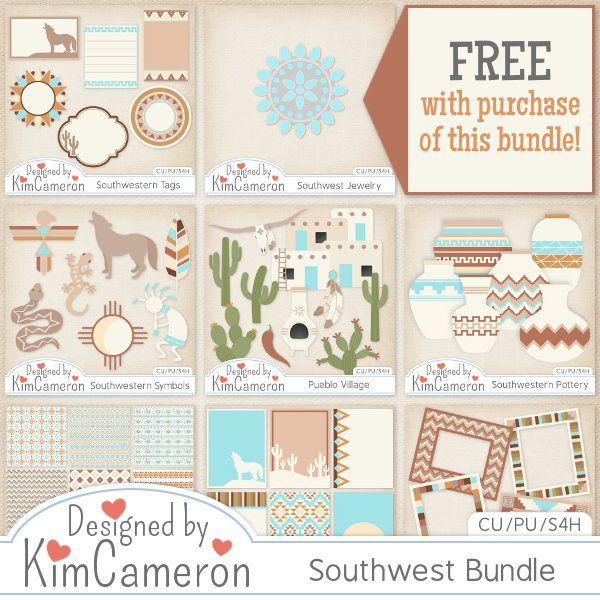 Southwestern Collection Cu By Kim Cameron Overlays Digital