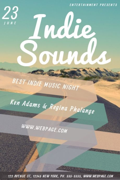 Indie Band Flyer Template Indie Music Flyer Templates Pinterest