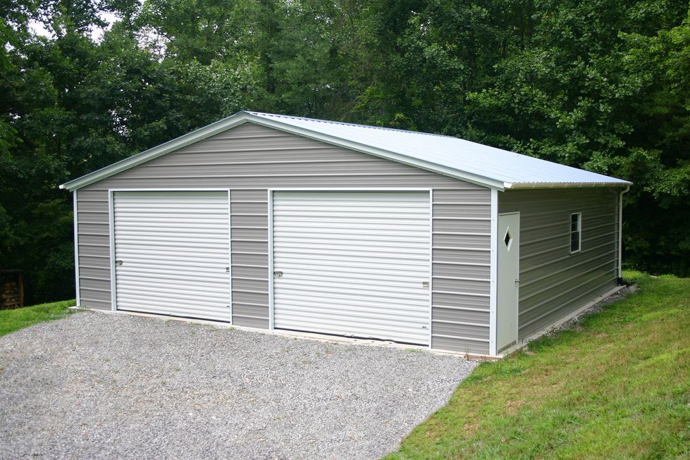 Tin Garage Prefab Metal Garage Prefab Garages Garage Design