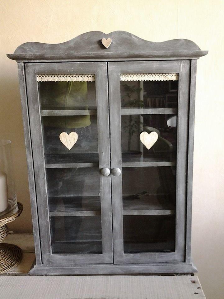cire blanche peinture grise mobilier