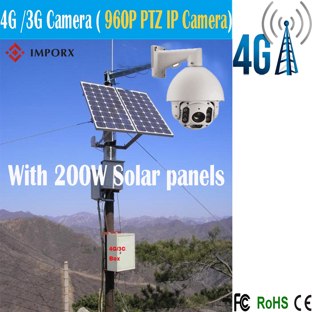 1547.00$  Buy here - http://alit0f.worldwells.pw/go.php?t=32724537818 - 4G 3G Solar Power Camera outdoor 1.3MP 960P 20X IR 150M laser dome PTZ cctv ip hd camera