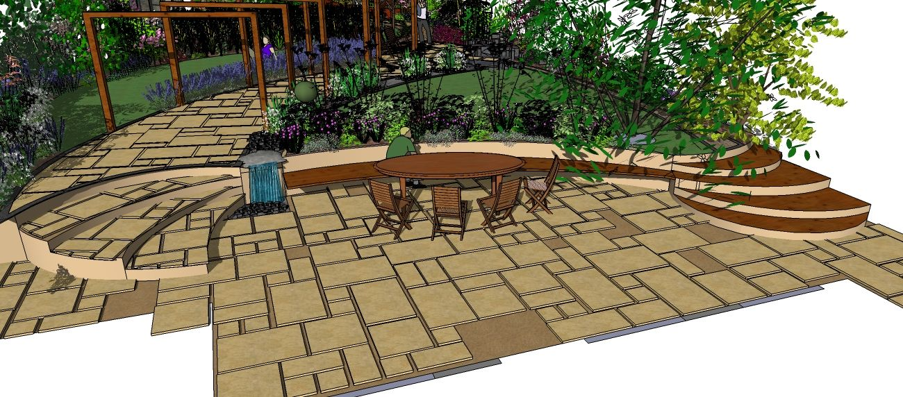 Art Deco Garden Design