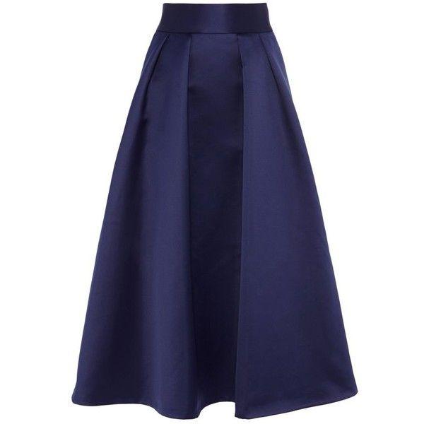 Coast Debenhams exclusive Meslita skirt ($190) ❤ liked on Polyvore featuring skirts, calf length skirts, blue skirt, mid-calf skirt, blue midi skirt and midi skirt