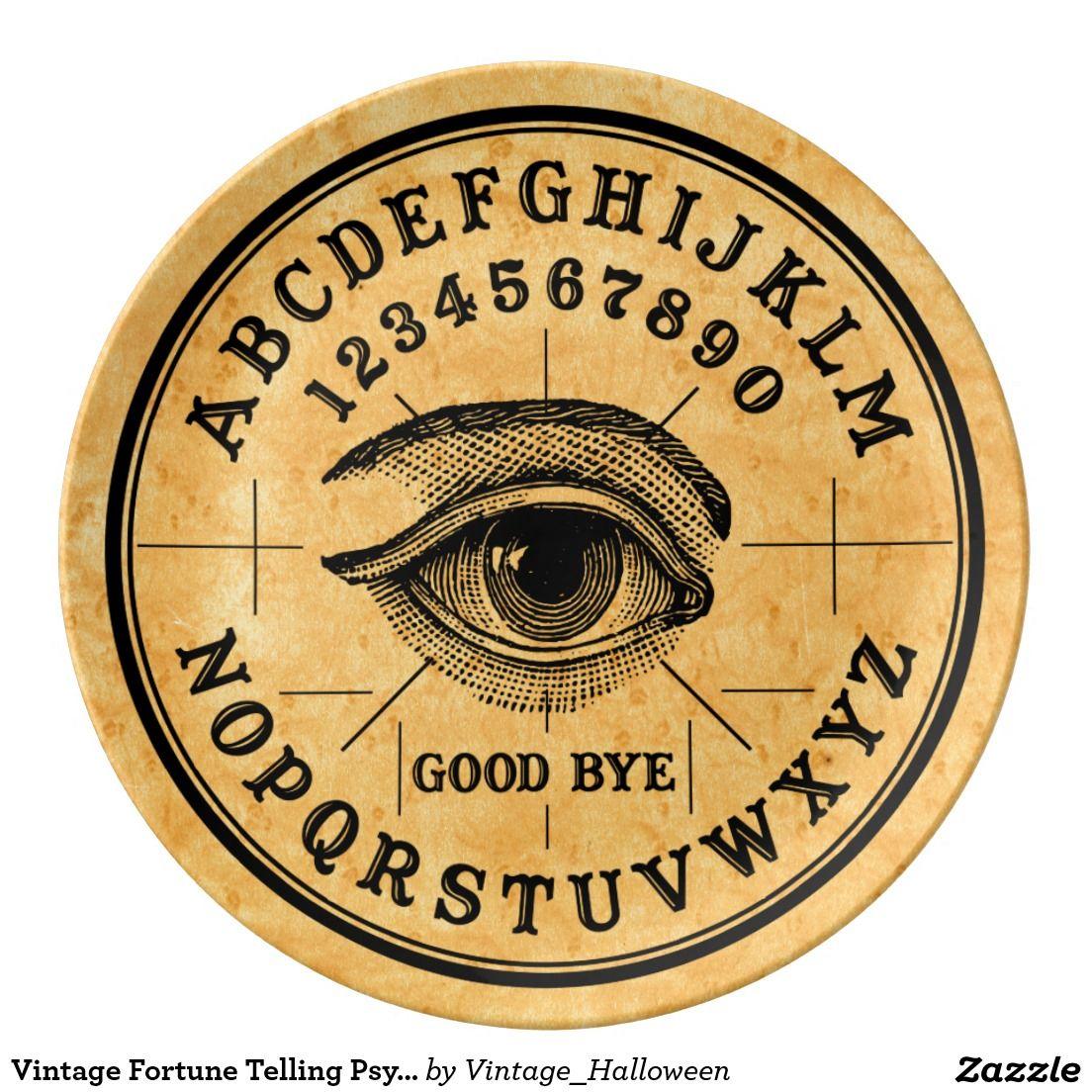 Vintage Fortune Telling Psychic Eye Plate
