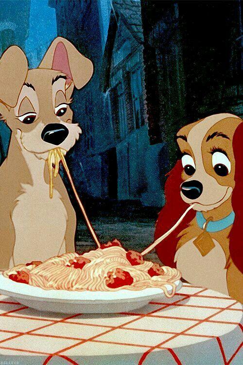 Lady and the trump lilli e il vagabondo spaghetti #love #disney