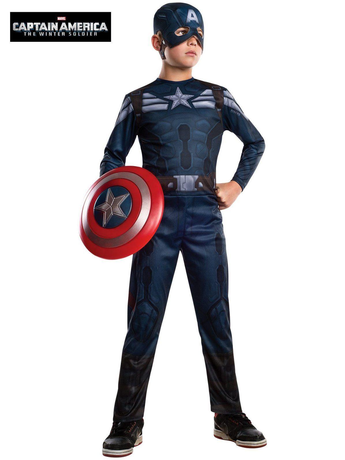 Captain America Stealth Marvel Superhero Fancy Dress Halloween Child Costume