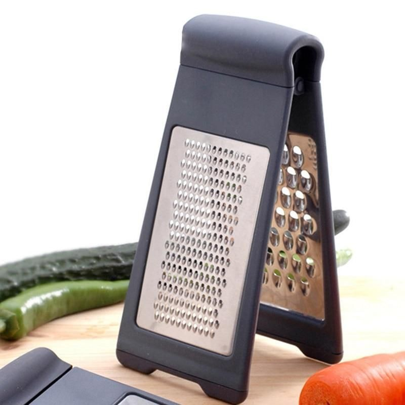 Stainless steel food grater.