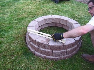 Stone Soup For Five Diy Simple Brick Firepit In About An Hour