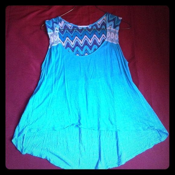 Lush Blue M crop top In good condition. 100%Polyester. Lush Tops Crop Tops