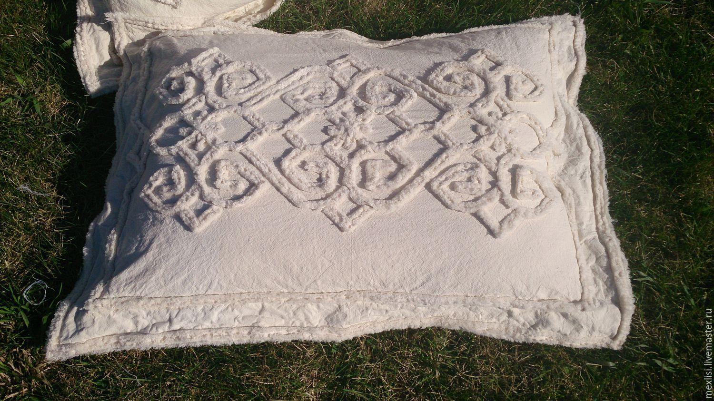 Купить Наволочка на подушку 50x70 - белый, молочный, сливочный, монохромный, мягкий, уютный, уникальный подарок