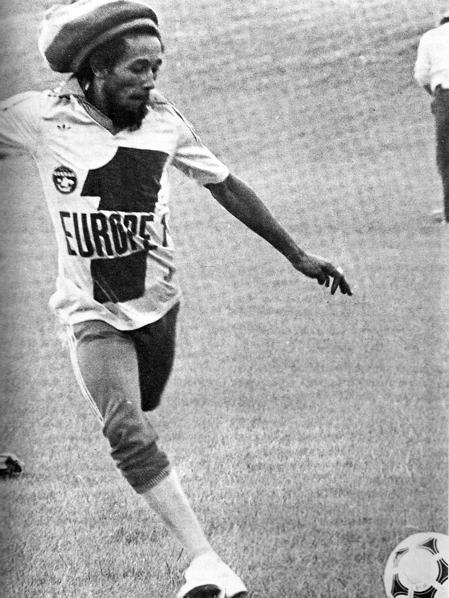 Bob Marley Playin Footie Possibly While High As Fuck Marley In
