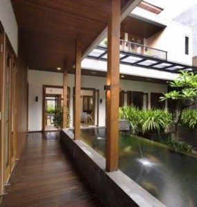 20 modern balinese house style ideas home house modern tropical rh pinterest com Modern House On Hill Modern House On Hill