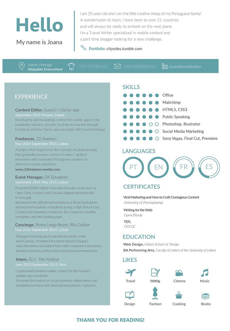 The Resume Template That Helped Me Land Jobs Basic