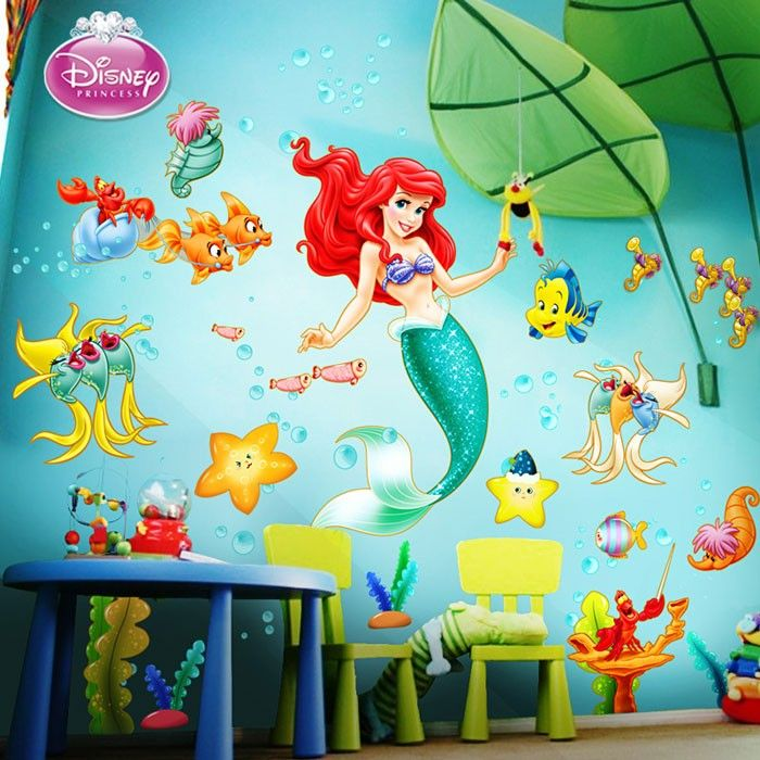Exceptionnel Disney The Little Mermaid Wall Decal