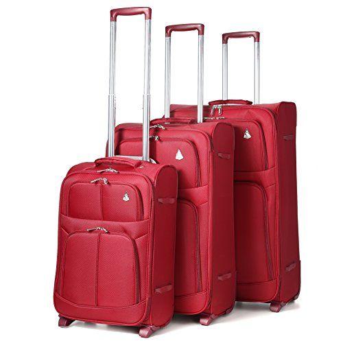 Aerolite Super ligero mundo ligero Maleta de casos Bolsa equipaje (3 ... 1d6aa2432cae6