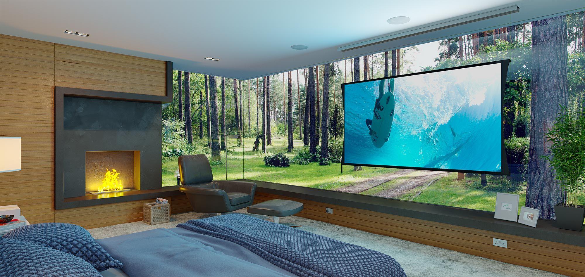 Zero g bedroom rollable screen houzz in 2019 pinterest - Houzz dormitorios ...