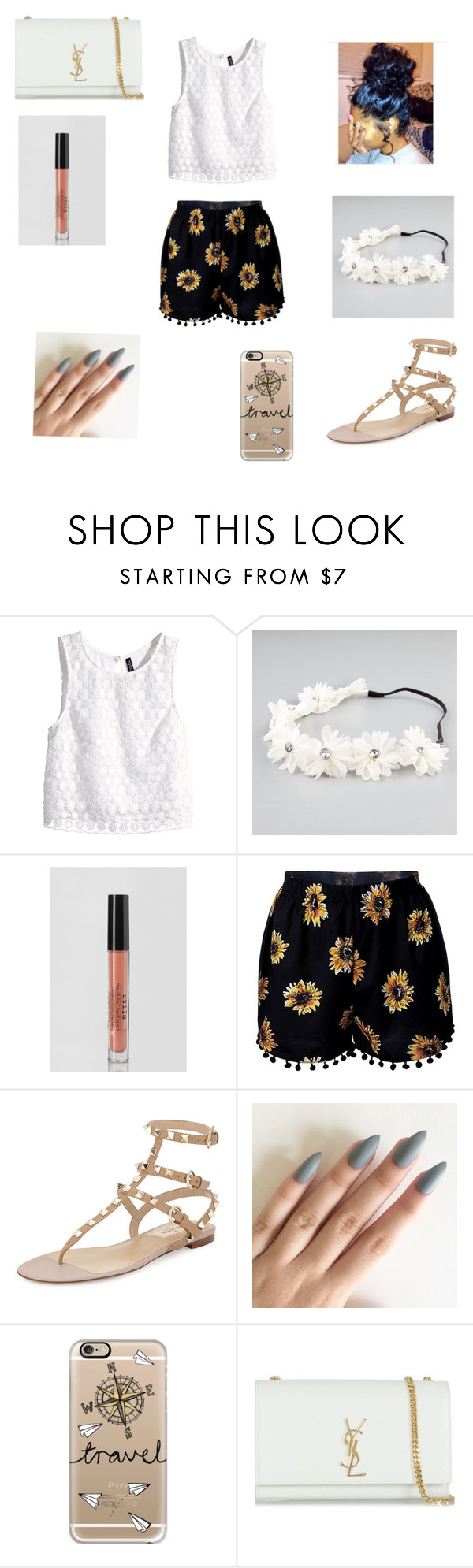 """""""#Spring is here!!!"""" by madypooh ❤ liked on Polyvore featuring H&M, Full Tilt, Stila, Valentino, Casetify and Yves Saint Laurent"""