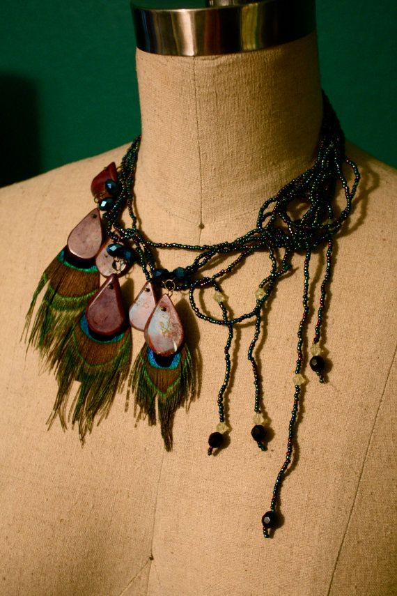 Cauda+Pavonis+Necklace+by+MitisDesigns+on+Etsy,+$45.00