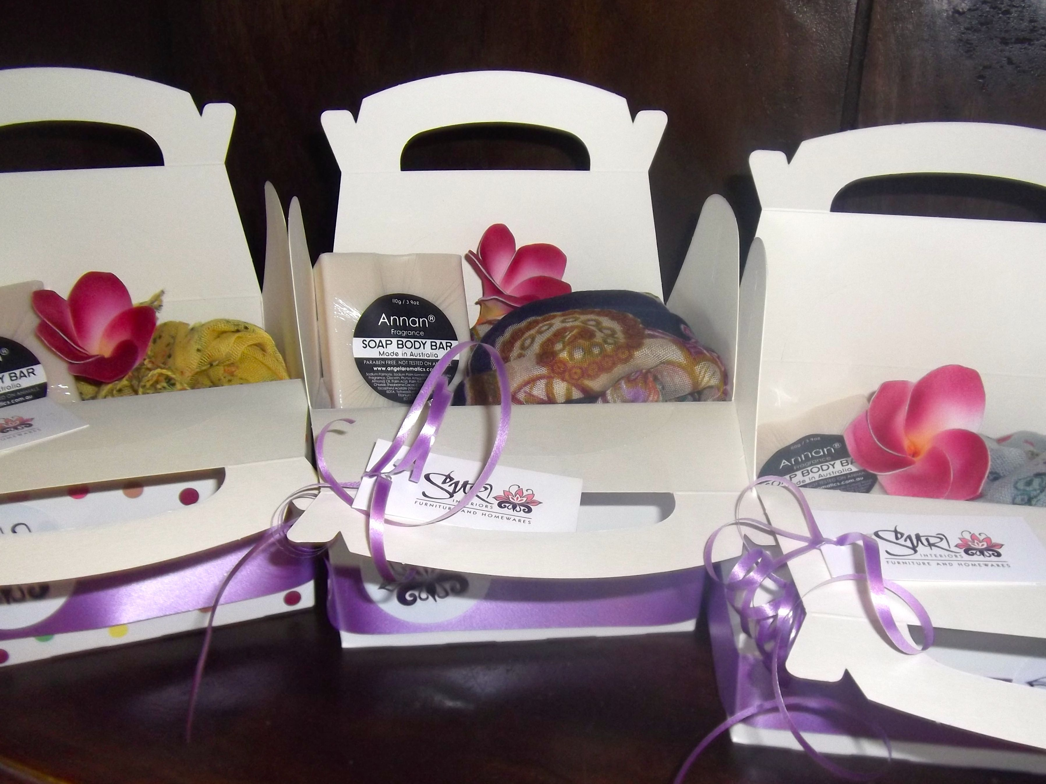 Spoil mum this Mothers Day with one of our gorgeous Suri Interiors Gift Packs. Priced from $11.95, it includes a scarf and soap.