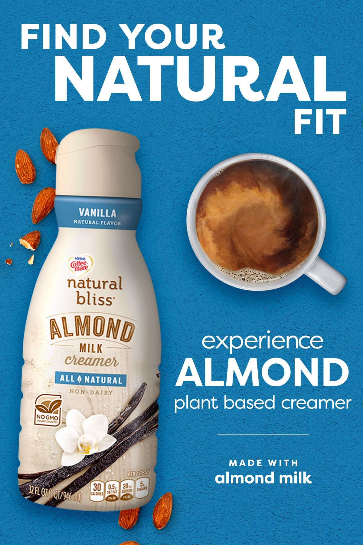 Experience Plant Based Creamer Natural bliss, Healthy