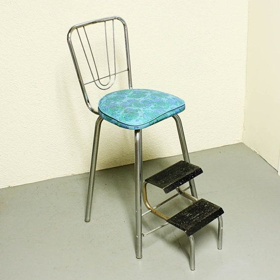 Vintage Kitchen Stool Step Stool Stool Chair By Moxiethrift, $52.50