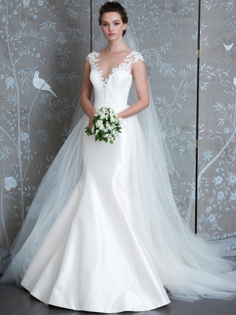 35e2da001da9 LEGENDS by Romona Keveza Spring 2019 silk taffeta wedding dress with lace  bodice