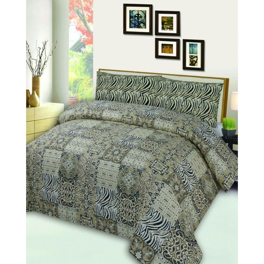 Guaranteed Cotton Printed Bed Sets [All Sizes] Design CC-288