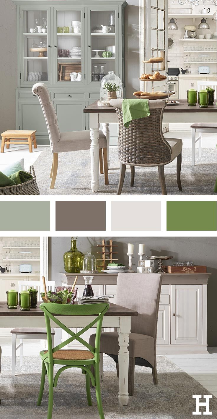 Grün Ist Eine Der Trendfarben Mit Einem Grau Oder Mattem Weiß