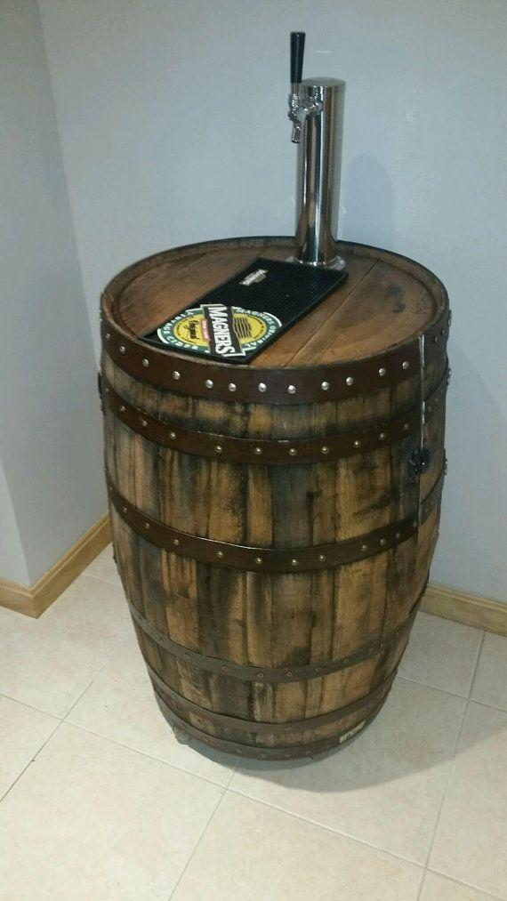 Whiskey barrel kegerator by PiercesWorkshop on Etsy