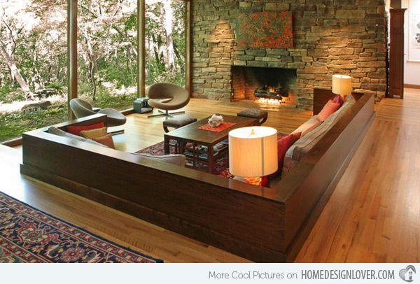 15 Zen Inspired Living Room Design Ideas Sunken Living Room