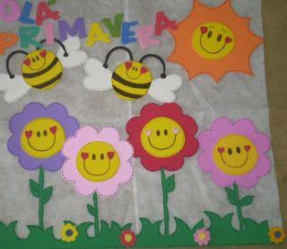 Bem Vinda Primavera Aula Painel De Primavera Bem Vinda