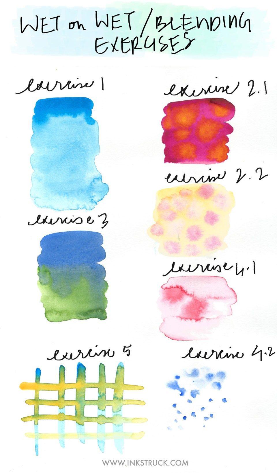 Basic watercolor techniques blending watercolor for Different watercolor techniques