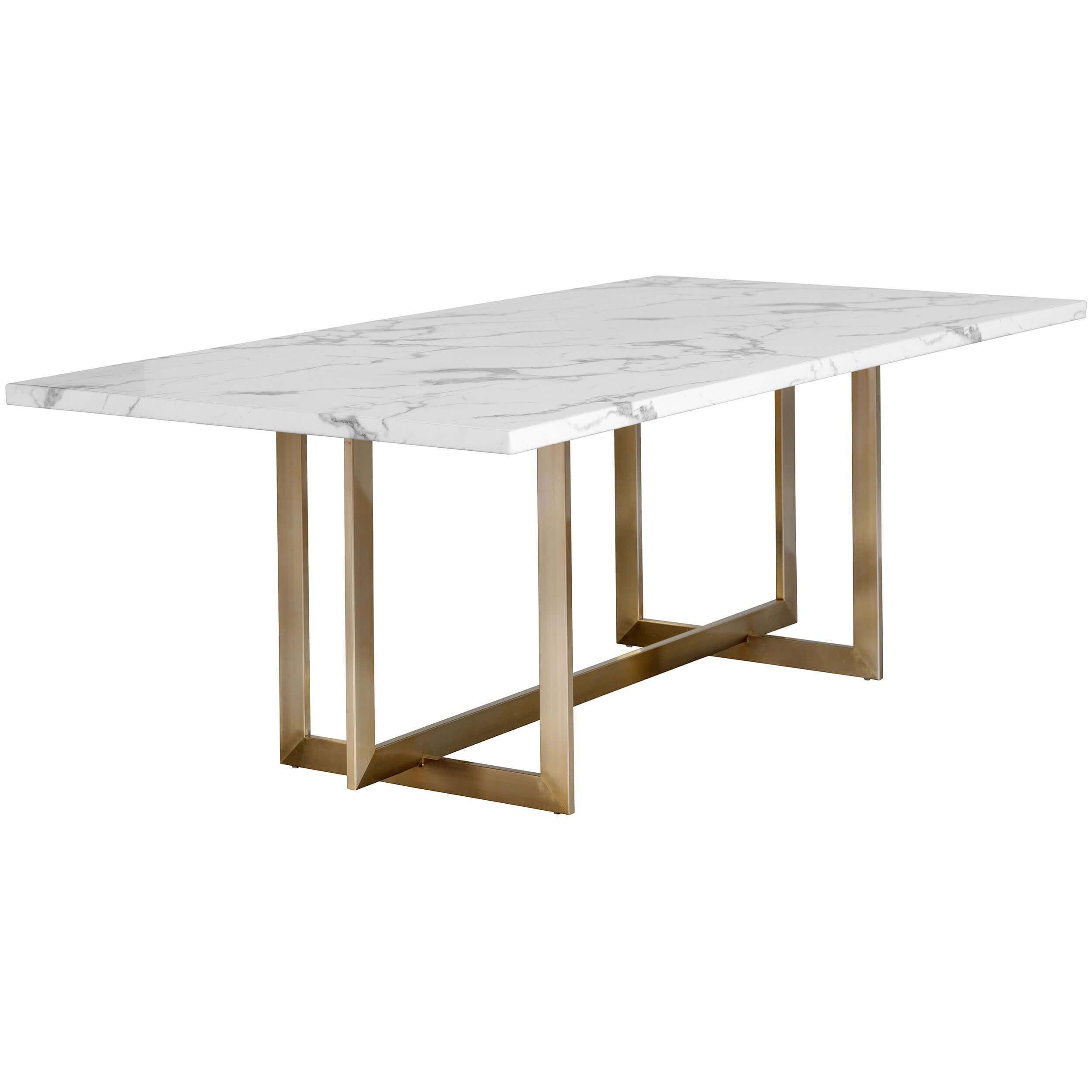 The Rosellen Dining Table Offers A Bold Yet Ele Esstisch Oval Tisch Mit Marmorplatte Speisezimmereinrichtung