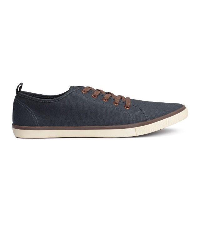 Canvas Sneakers H M Mens Dark Blue Size 7 5   eBay