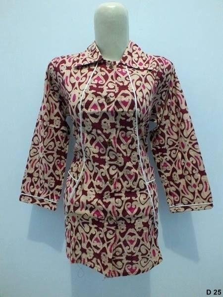 kumpulan desain Model Baju Batik Kerja Wanita terbaru 2015 dengan ... e50389bfef