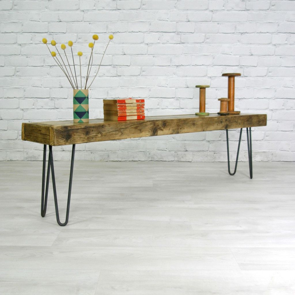'The Hairpin' Industrial Rustic Bench